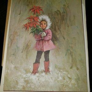 Miles Kimball Holiday Catalog Cover Print, Girl